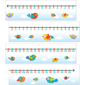 Boho Birds Number Line Mini Bulletin Board Set