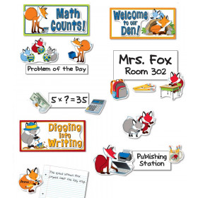 Playful Foxes Curriculum Signs Bulletin Board Set