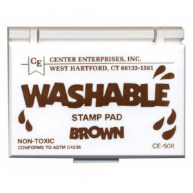 Washable Stamp Pad, Brown