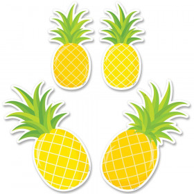 """Palm Paradise Pineapple Party 6"""" Designer Cut-Outs, Pack of 48"""