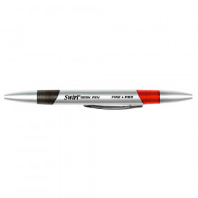 Swirl Desk Pens Red/Black 12/Pk