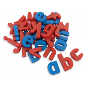 "Magnetic Plastic Letters, Lowercase, Blue Vowels & Red Consonants, 1-1/2"", 36 Letters"