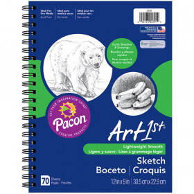 "Sketch Diary, Standard Weight, 12"" x 9"", 70 Sheets"