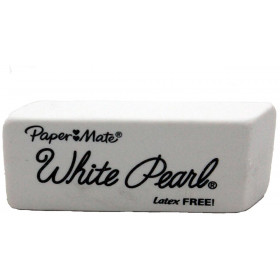 Papermate Pearl Erasers White