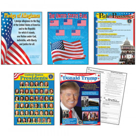 U.S. Presidents Learning Charts Combo Pack, set of 5