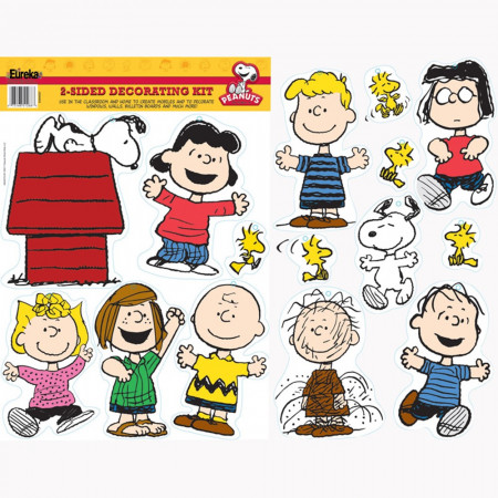 Peanuts Classic Characters 2-Sided Deco Kit