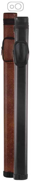 McDermott 1x1 Brown Vinyl Oval Hard Pool Cue Case