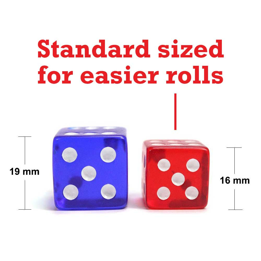 16mm Rounded Dice, Red