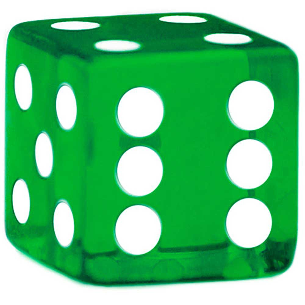 19mm Rounded Dice, Green