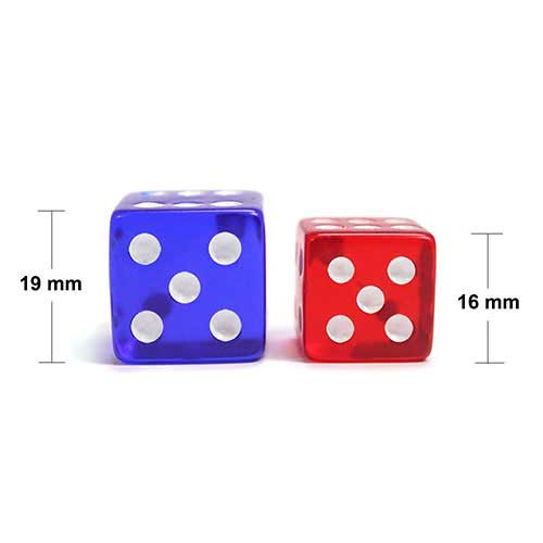 19mm Rounded Dice, Purple