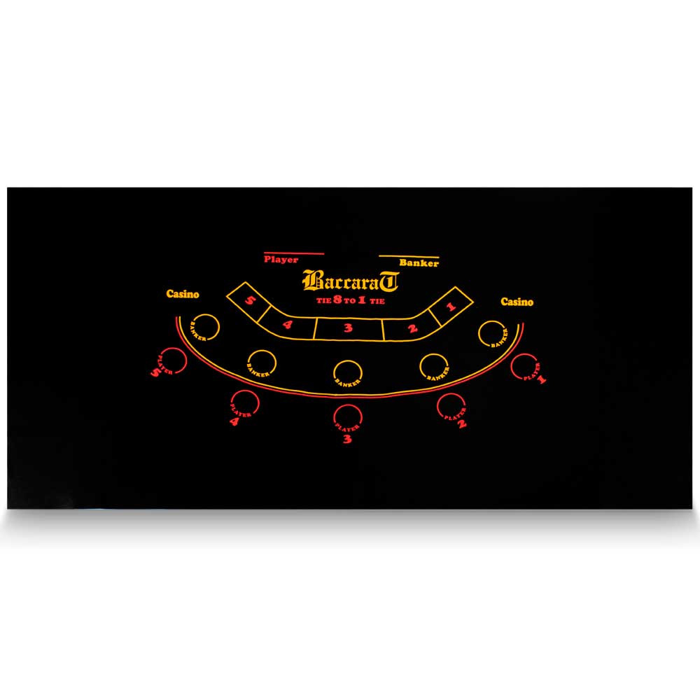 Black Baccarat Casino Table Felt