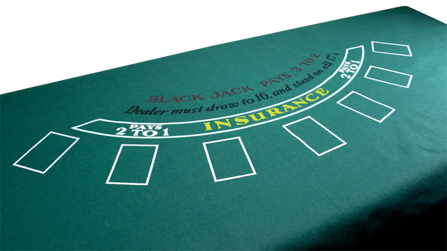 Blackjack & Texas Hold'Em Table Felt