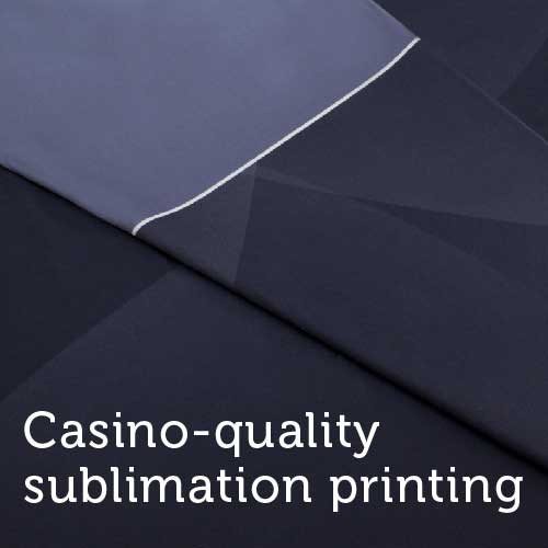 Casino Quality Black Sublimation Poker Table Felt