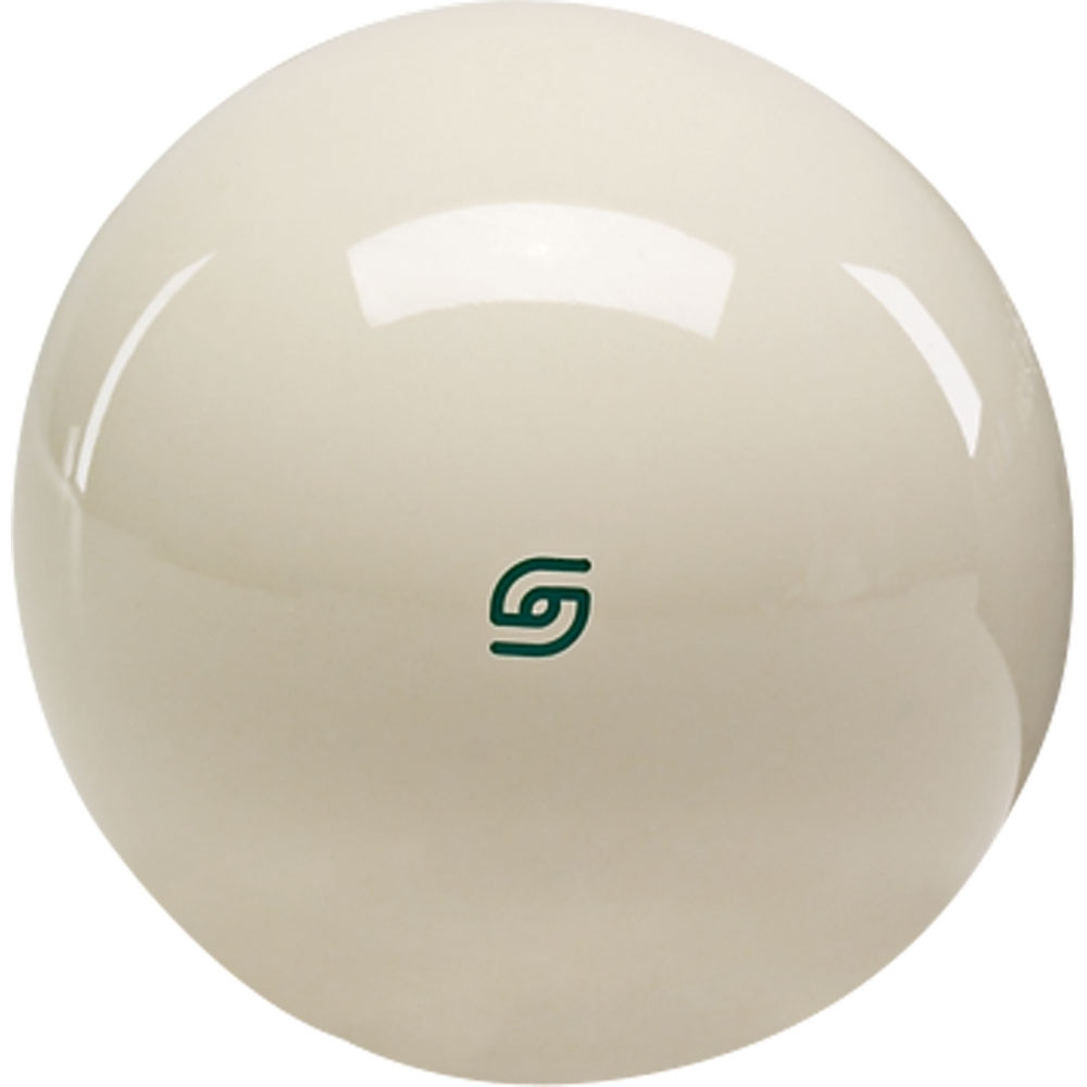 Aramith Tournament Magnetic Cast Phenolic Cue Ball with Green Logo