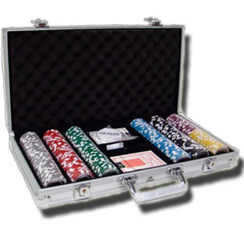 Ace Casino 14 Gram 300pc Poker Chip Set w/Aluminum Case