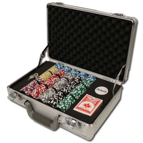 Ben Franklin 14 Gram 300pc Poker Chip Set w/Claysmith Aluminum Case