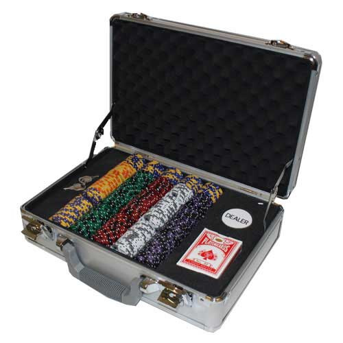 Ace King Suited 300pc Poker Chip Set w/Claysmith Aluminum Case