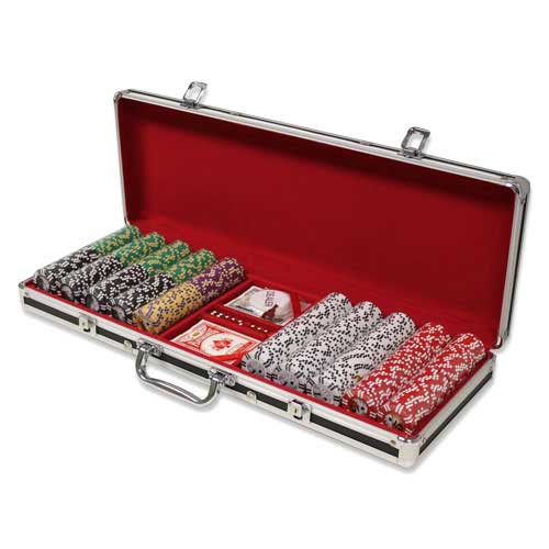 Ace Casino 14 Gram 500pc Poker Chip Set w/Black Aluminum Case