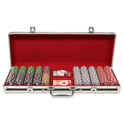 Ben Franklin 14 Gram 500pc Poker Chip Set w/Black Aluminum Case