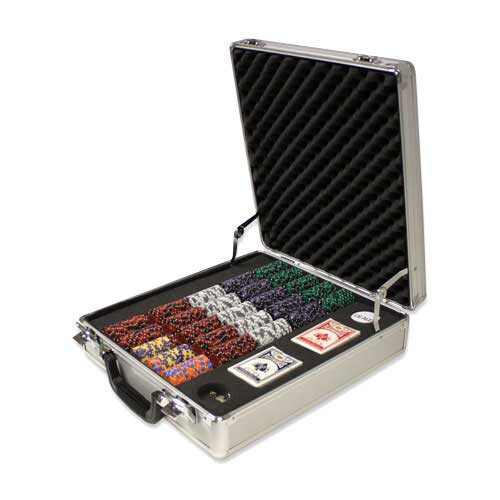 Ace King Suited 500pc Poker Chip Set w/Claysmith Aluminum Case