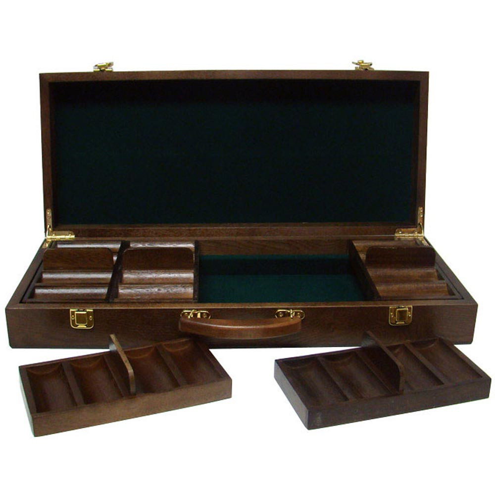 Black Diamond 14 Gram 500pc Poker Chip Set w/Walnut Casel