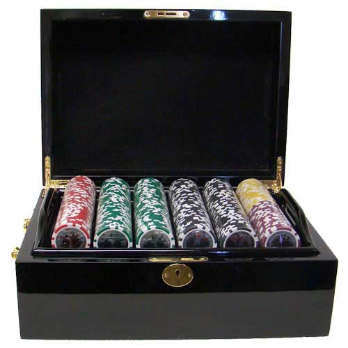 Ben Franklin 14 Gram 500pc Poker Chip Set w/Mahogany Case
