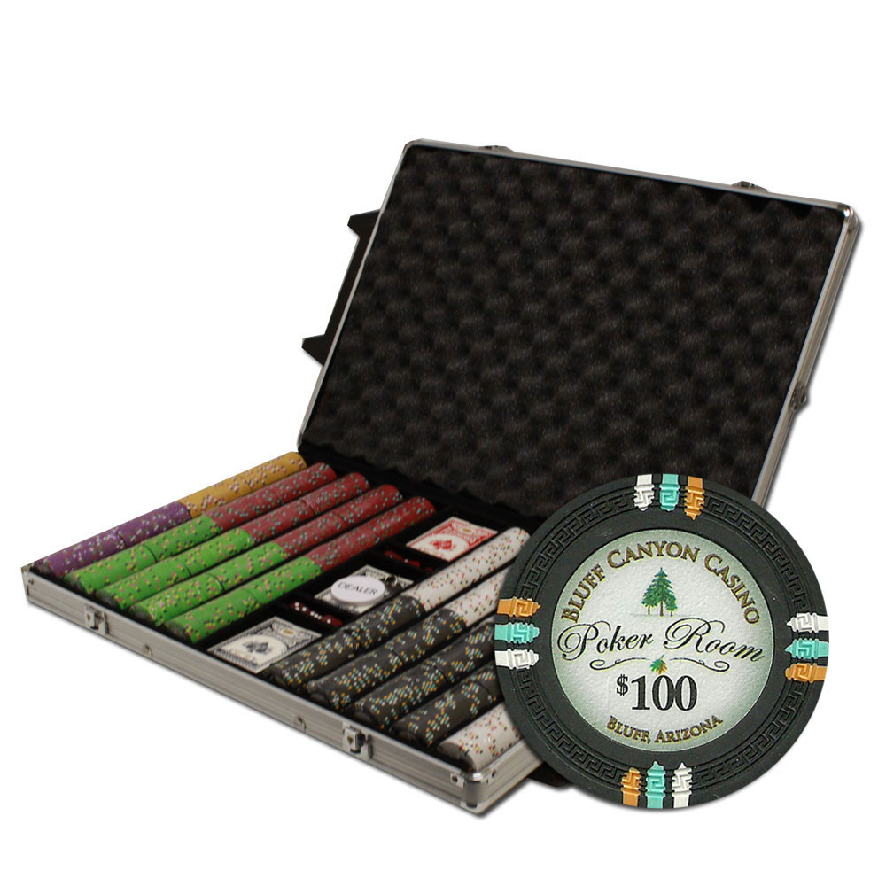 Claysmith Gaming Bluff Canyon 1000pc Poker Chip Set w/Rolling Aluminum Case