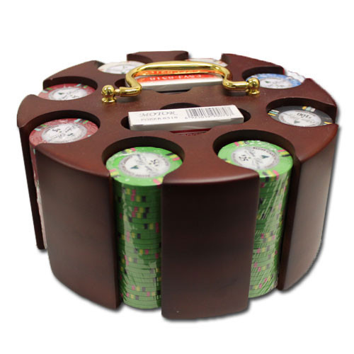 Bluff Canyon 200pc Poker Chip Set w/Wooden Carousel