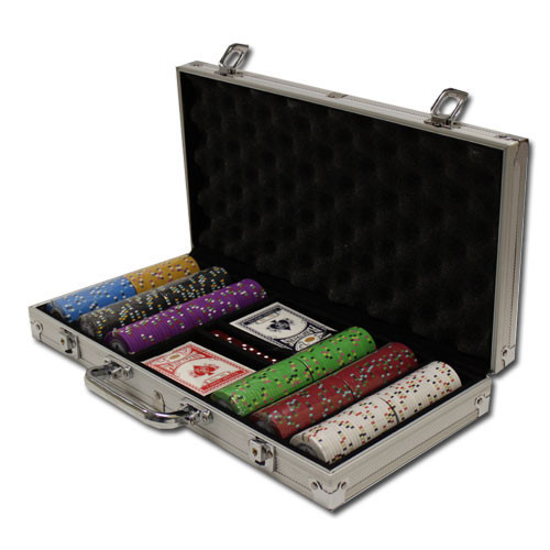 Gold Rush 300pc Poker Chip Set w/Aluminum Case