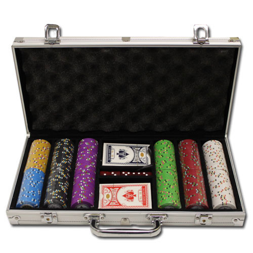 Desert Heat 300pc Poker Chip Set w/Aluminum Case