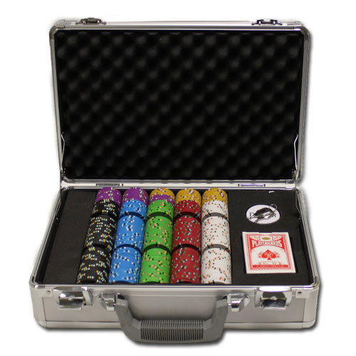 Desert Heat 300pc Poker Chip Set w/Claysmith Aluminum Case