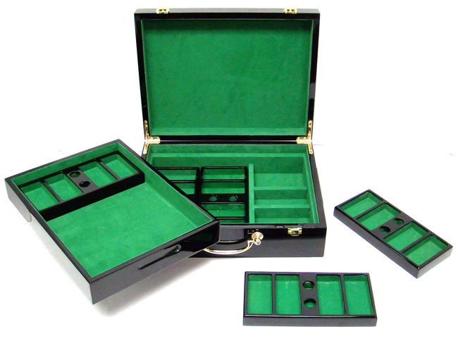 Gold Rush 500pc Poker Chip Set w/Hi Gloss Case