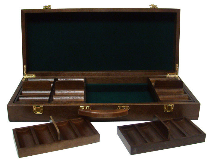 Desert Heat 500pc Poker Chip Set w/Walnut Case