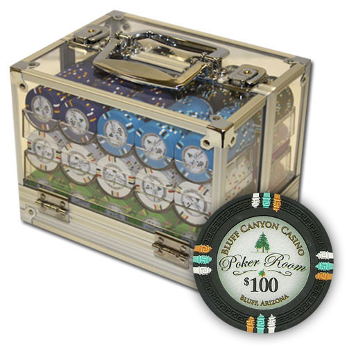 Bluff Canyon 600pc Poker Chip Set w/Acrylic Case