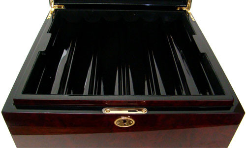 Desert Heat 750pc Poker Chip Set w/Mahogany Case