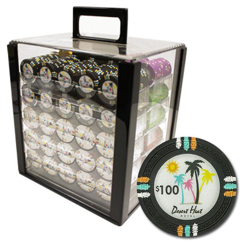Desert Heat 1000pc Poker Chip Set w/Acrylic Case