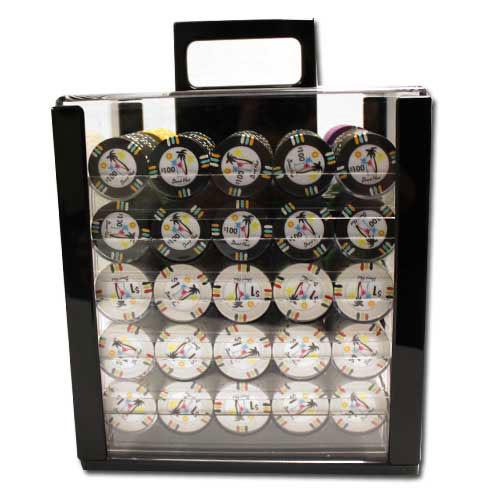 Desert Heat 1000pc Poker Chip Set w/Acrylic Case