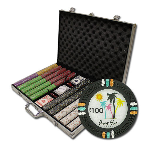 Desert Heat 1000pc Poker Chip Set w/Aluminum Case