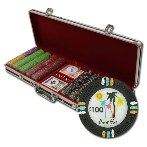 Desert Heat 500pc Poker Chip Set w/Black Aluminum Case