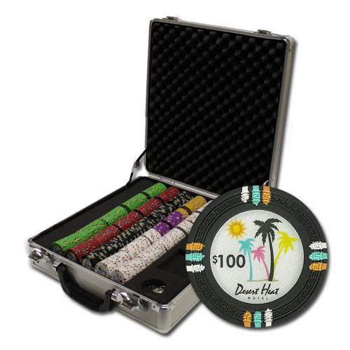 Desert Heat 500pc Poker Chip Set w/Claysmith Case