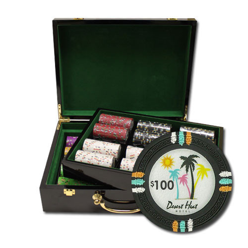 Desert Heat 500pc Poker Chip Set w/Hi Gloss Case