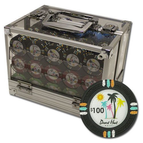Desert Heat 600pc Poker Chip Set w/Acrylic Case