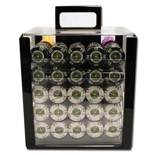 Gold Rush 1000pc Poker Chip Set w/Acrylic Case