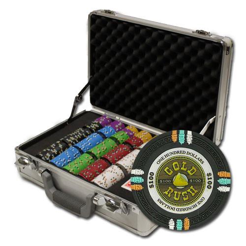 Gold Rush 300pc Poker Chip Set w/Aluminum Case