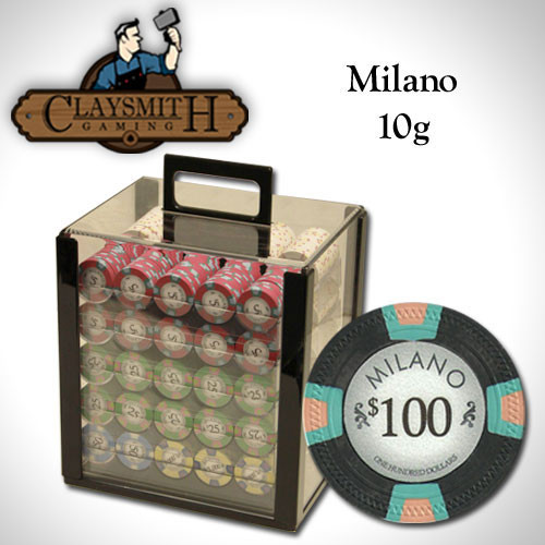 Claysmith Milano 1000pc Poker Chip Set w/Acrylic Case