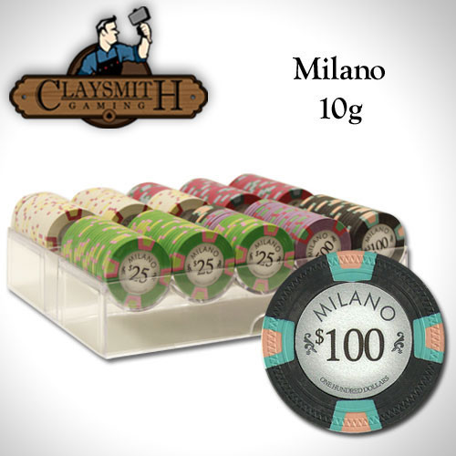 Claysmith Milano 200pc Poker Chip Set w/Acrylic Tray