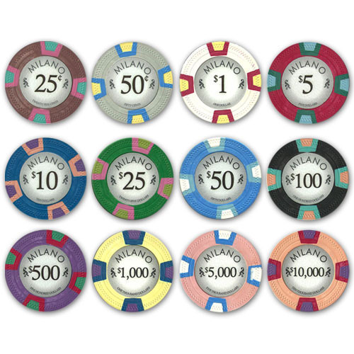 Claysmith Milano 600pc Poker Chip Set w/Acrylic Case