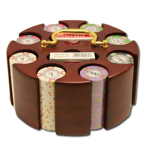 Claysmith Milano 200pc Poker Chip Set w/Wooden Carousel
