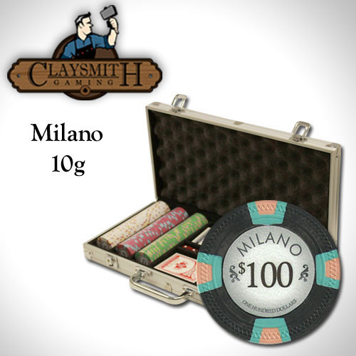 Claysmith Milano 300pc Poker Chip Set w/Aluminum Case