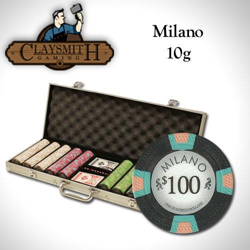 Claysmith Milano 500pc Poker Chip Set w/Aluminum Case